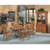 Solid Wood 7-Piece Nostalgia Oak Finish Dinette Set 02186T/0