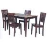 5 Pc Hardwood Dining Set 02800T23SET-01-KD (LN)