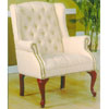 Beige Tapestry Wing Chair 2012-11 (WD)