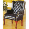 Black Vinyl Wing Chair 2012-43 (WD)