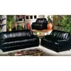 Black Vinyl Living Room Set 2034 (WD)