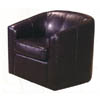 Cappuccino Swivel Bycast PVC  Chair 2076-42 (WD)