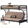 Twin/Full C Shape Futon Bunk Bed 732_(ABC)