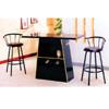 Wooden Bar Table In Black 2232BK (PJ)