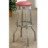 Chrome Plated Bar Stool With Cushion Seat 2299 (CO)