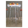 Soda Fountain White Bar Table In Retro Chrome 2300 (CO)