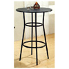 Black Bar Table With Metal Base 2383 (CO)