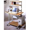 Gray And Natural Wood Computer Desk 2444 (CO)