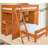 Twin/Twin Wooden Loft Bed 2455 (A)