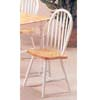 Natural/White Arrow Back Windsor Chair 2482NW (A)