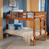 Solid Wood Twin/Twin Bunk Bed 2600(WC)