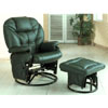 Green Leatherette Cushion Swivel Glider W/ Ottoman 2658 (CO)