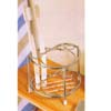 Chrome Plated Wire Toothbrush & Cup Holder 2905(PJ)