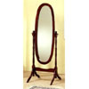 Bevelled Cheval Mirror In Cherry Finish 3001 (CO)