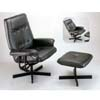 Black Leather Match Chair With Ottoman 3379 (IEM)