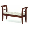 Cherry Finish Storage Bench With Padded Seat  3424 (CO)