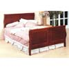 Four Panel Cherry Finish Queen Size Sleigh Bed 3913Q (CO)