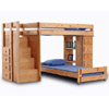 Solid Wood Loft Bed With Stairs 39472_(PC)