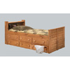 Twin or Full Bookcase Captain Bed 3961_ (PC)