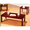 3-Pc Coffee And End Table Set In Cappuccino Finish 3979 (CO)