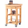 Butcher Block Work Island 43477NAT-01-KD-U (LN)