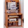 Oak Finish Computer Desk With Bookcase 4513 (CO)