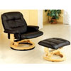 Top Grain Leather Match Swivel Recliner W/ Ottoman 4566 (CO)