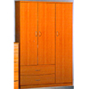 Extra Large 3 Doors 2 Drawer Closet  UF_(UTD)