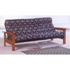 Oak Finish Wood And Metal Futon Frame 4880 (CO)