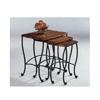 Three Piece Rustic Oak Finish Nesting Table 5423(CO)