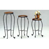 3-Piece Set Plant Stand In Dirty Oak Finish 5444 (CO)