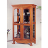 Solid Oak Curio Cabinet with Double Doors 5805(CO)