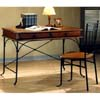 2-Pc Set Wood And Metal Desk & Chair Set 5930 (CO)