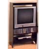 Black Finish Entertainment Center With CD Rack 6006 (CO)