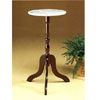 Walnut Finish Plant Stand With White Marble Top 6259 (CO)