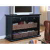 Contemporary Black Occasional Sofa Console Table TV Stand 70