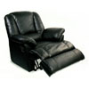 100% Leather Multi Position Chaise Recliner 7521BLK (CO)