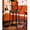 Bar Table With Tile Decor And Glass Top 7685 (CO)
