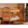 Twin/Twin Wood Arched Design Convertible Bunk Bed B125H(KBFS