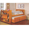 Solid Wood Captain�s Bed With Bookcase 8430(ABC)