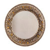 Round Burnt Oak Bevelled Mirror 8602 (CO)