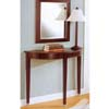 Cherry Finish Table w/Mirror And Lamp 900149 (CO)