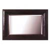 Bevelled Mirror In Dark Brown Leather Finish 90017_(CO)