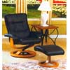 Swivel Wooden Recliner & Ottoman 9302 (ML)