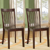 Set of 2 Heavy Duty Solid Wood Cherry Finish Dining Room Cha