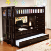 Solid Wood Discovery All In One Bunk Bed DWF1325(WFFS)