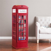 Pemberly Row Phone Booth Storage Cabinet in Red