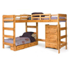 Solid Wood L-Shaped Loft Bed LB-6200(WC)