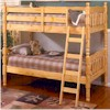 Natural Wood Bunk Bed  2299 (A)
