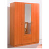3 Door Wardrobe w/Mirror B76W2 (PK)